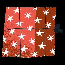 Design de envelope de presente estrela