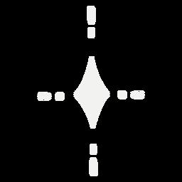 Símbolo estrella brillante