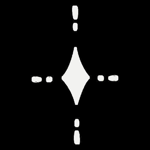 Símbolo estrella brillante Transparent PNG