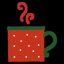Copa humeante de navidad plana