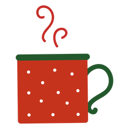 Steaming christmas cup flat