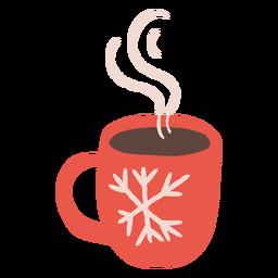 Copo fumegante inverno design ilustração