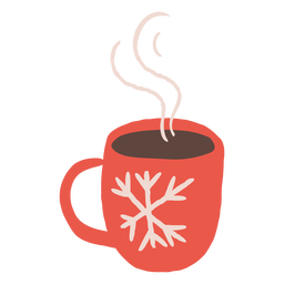 Steamy cup winter design illustration