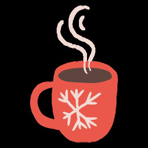 Steamy cup winter design illustration