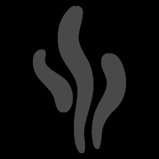 Icono de formas de humo de hebras