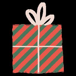 Ilustración de sobre de regalo de rayas