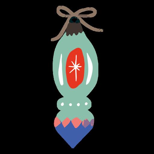 Tall ornament christmas design Transparent PNG