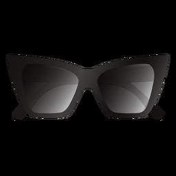 Gafas de sol gruesas con diseño de ojos de gato brillantes
