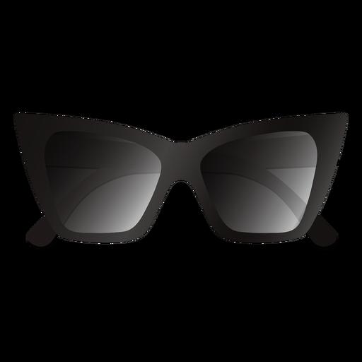 Gafas de sol gruesas con diseño de ojo de gato brillante
