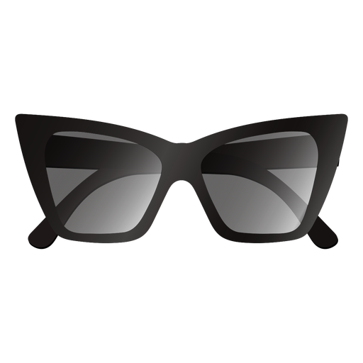 Thick cat eye design sunglasses glossy
