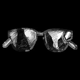 Diseño de boceto de gafas de sol de marco delgado