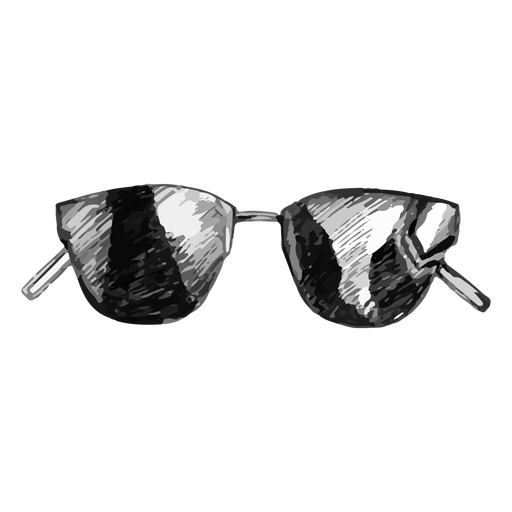 Thin frame sunglasses sketch design Transparent PNG