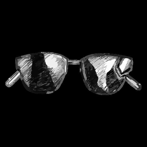 Thin frame sunglasses sketch design