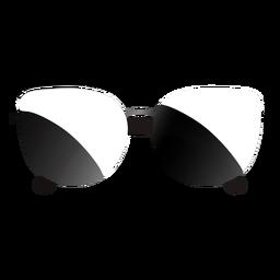 Gafas de sol con montura de puente delgado brillante