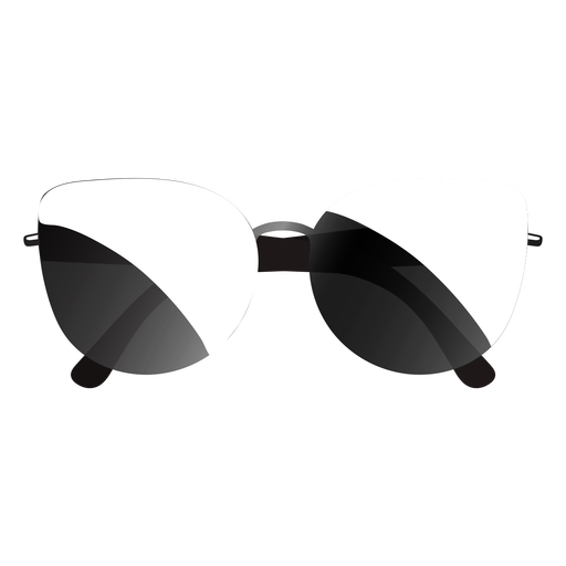 Thin bridge frame sunglasses glossy