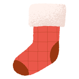 Traditional decoration christmas sock illustration