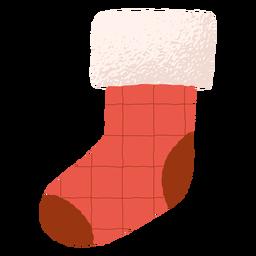 Traditionelle Dekoration Weihnachtssockenillustration