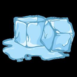 Dois cubos de gelo derretendo