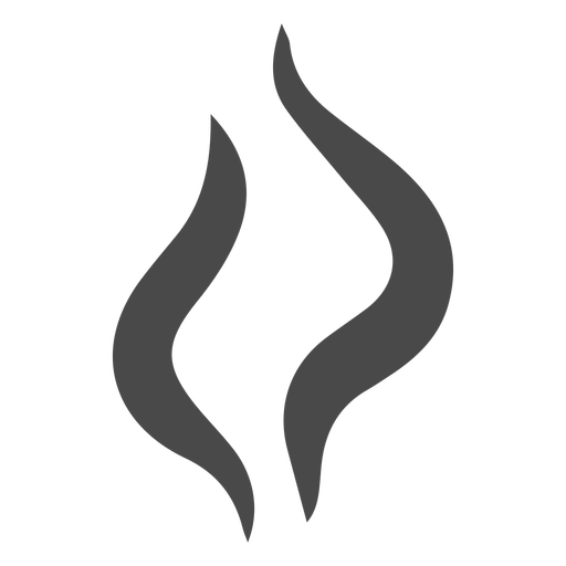 Two strands of smoke icon