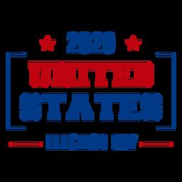Citação do dia da eleição nos Estados Unidos