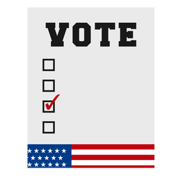Vote elemento eleições nos EUA