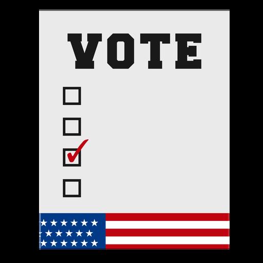 Votar elemento de elecciones de Estados Unidos