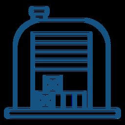 Warehouse box icon warehouse