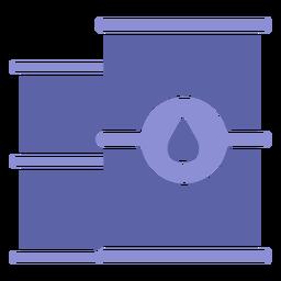 Diseño de silueta de contenedores de agua
