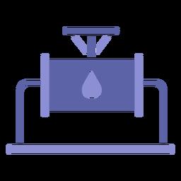 Silhueta de indústria de máquinas de água