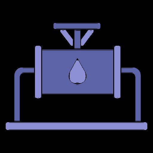 Silueta de industria de maquinaria de agua