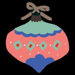 Ornamento largo enfeite de design de natal