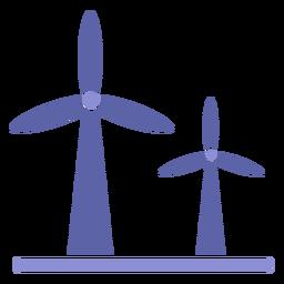 Silueta de turbina de energía eólica