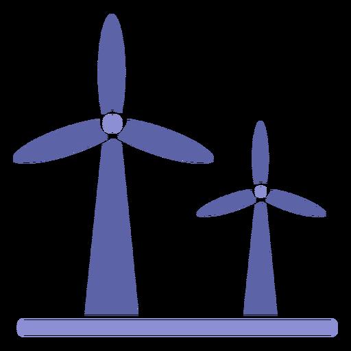 Silhueta de turbina de energia eólica