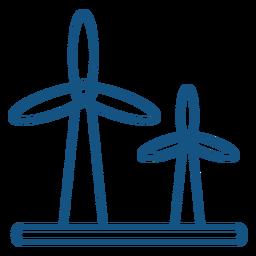 Wind energy turbine stroke