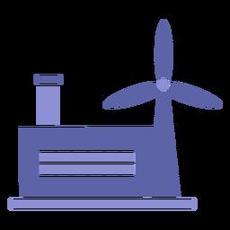 Silueta de la industria de energía eólica
