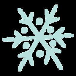 Ilustração de floco de neve de inverno