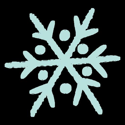 Ilustração de floco de neve de inverno Transparent PNG