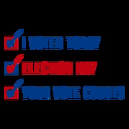 Ihre Stimme zählt USA Wahlen