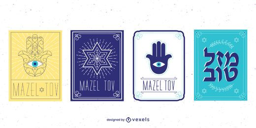 Mazel Tov Card Design Pack