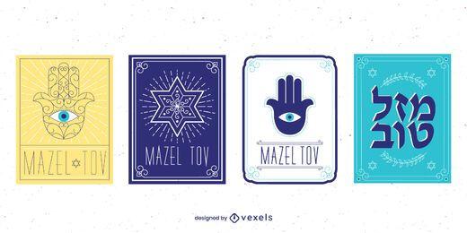 Pacote de design de cartão Mazel Tov