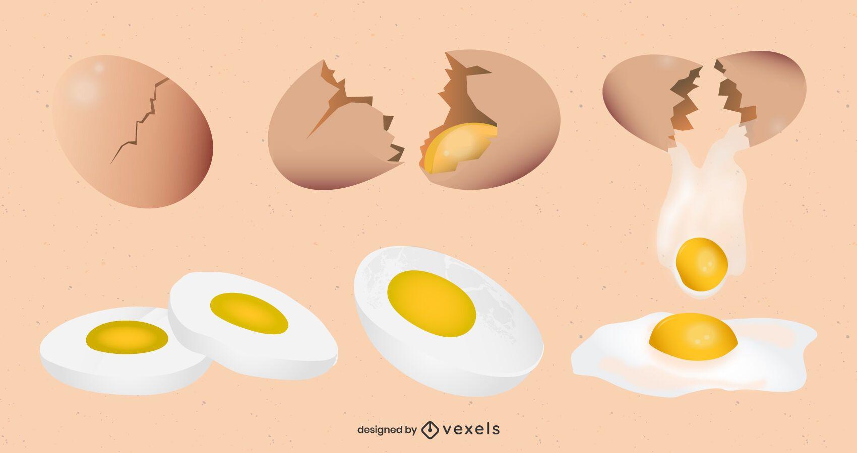 Egg Drawing Design Set