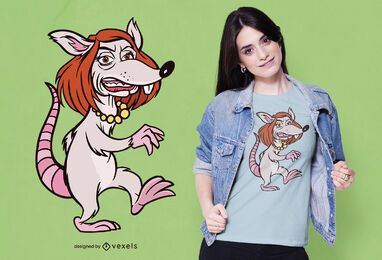 Diseño de camiseta de rata Pelosi