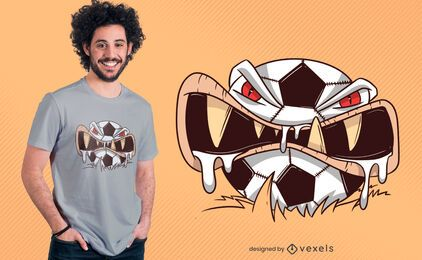 Design de camiseta de futebol louco