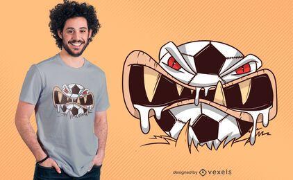 Verrücktes Fußball-T-Shirt Design