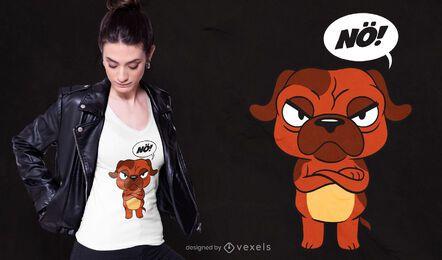 Diseño de camiseta de perro enojado