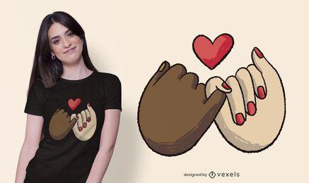 Diseño de camiseta Pinky Swear