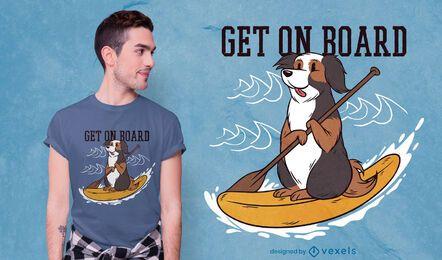 Holen Sie sich an Bord T-Shirt Design