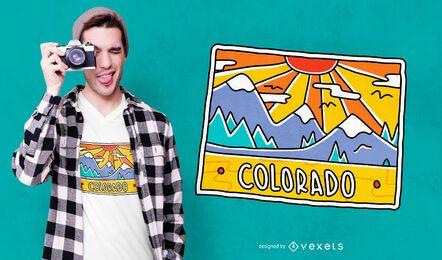 Diseño de camiseta de postal de Colorado