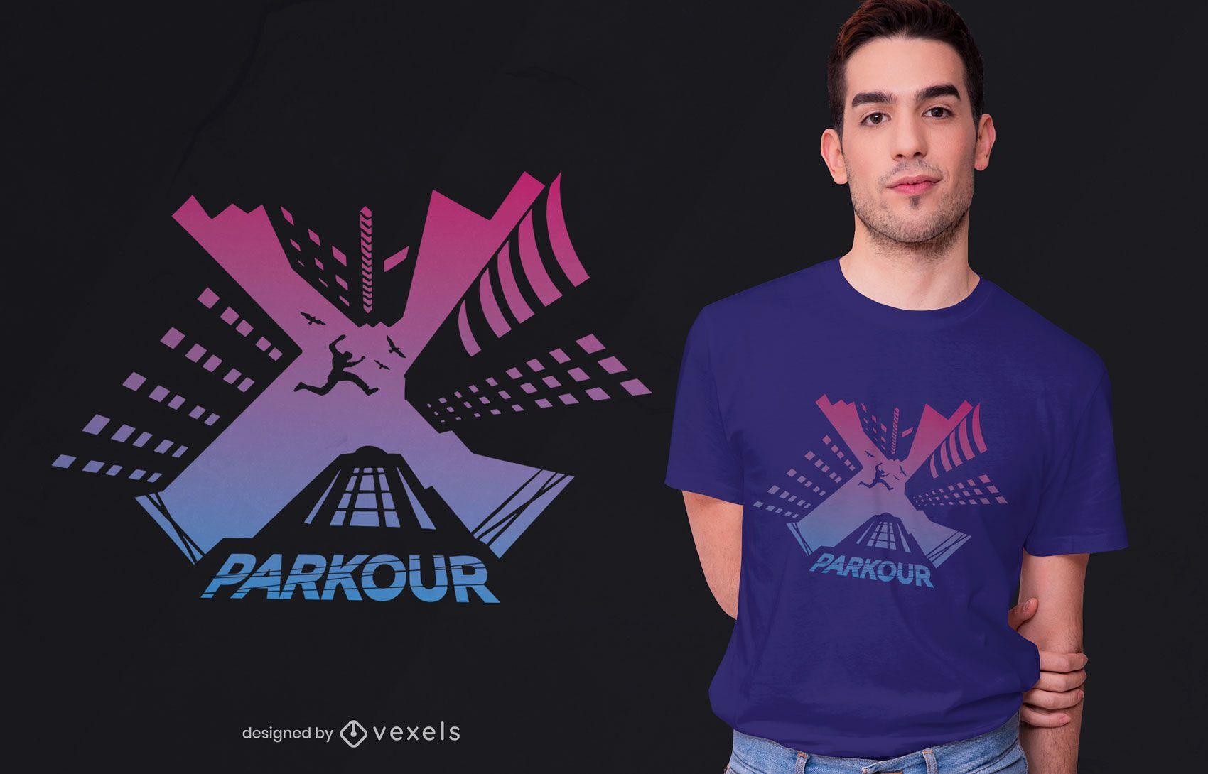 Parkour traceur t-shirt design
