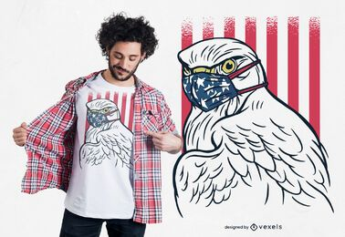 Design de camiseta de máscara facial Eagle